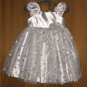 Cherokee silver and glitter dress.